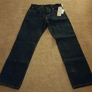 MENS NWT LEVI BUTTON FLY JEANS 30X32